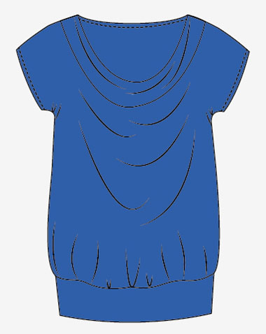 camiseta drapeada