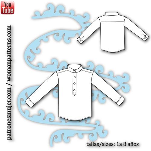 camisa niño con cuello mao-blog-patronesmujer