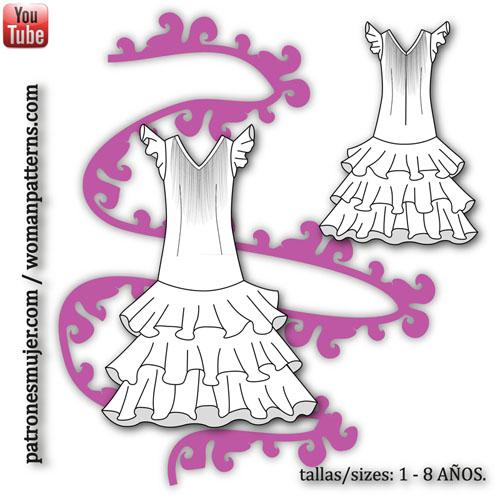 vestido niña flamenca