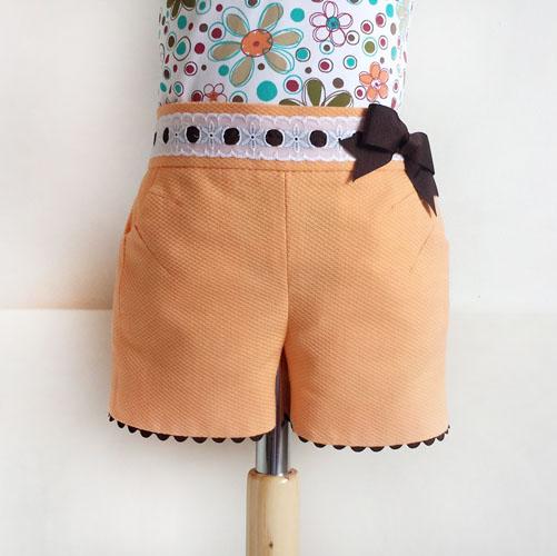Shorts ni a con bolsillo diy patronesmujer blog de - Colgador de tela con bolsillos ...