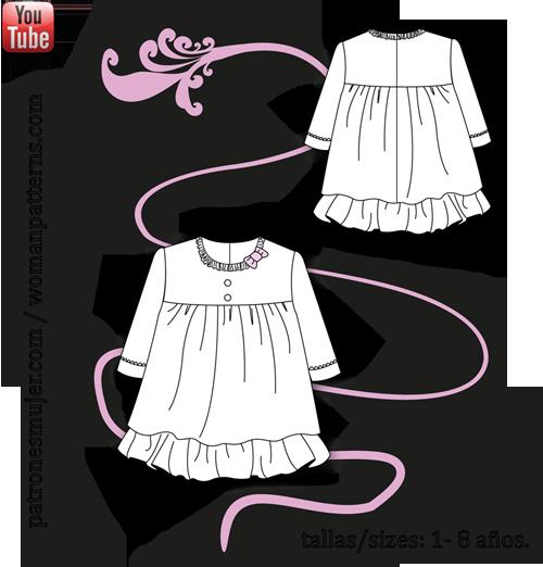 vestido-manga-francesa-patronesmujer