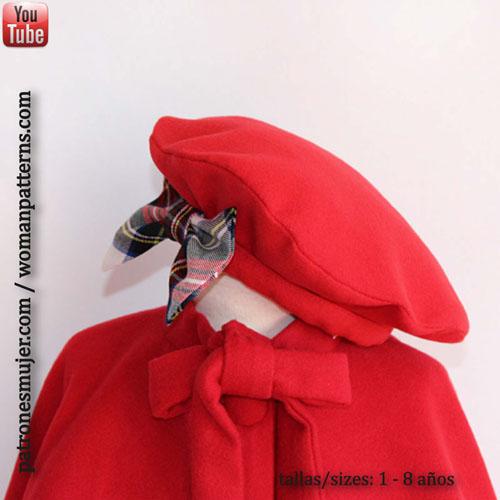 553cd9db155f9 Boina de niña  Costura fácil. - Patronesmujer  Blog de costura ...