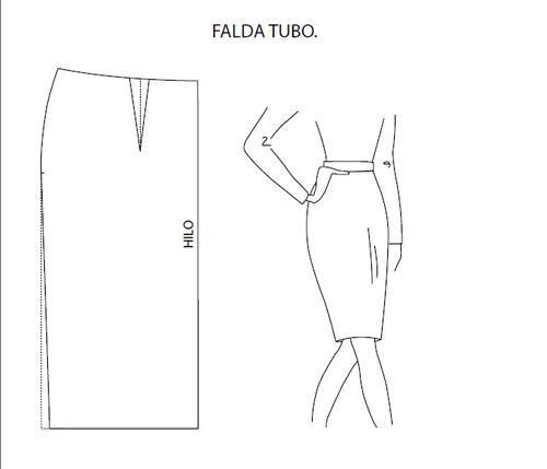 Trazado del patrón base falda
