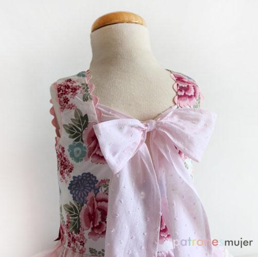 vestido con falda de volantes-patronesmujer