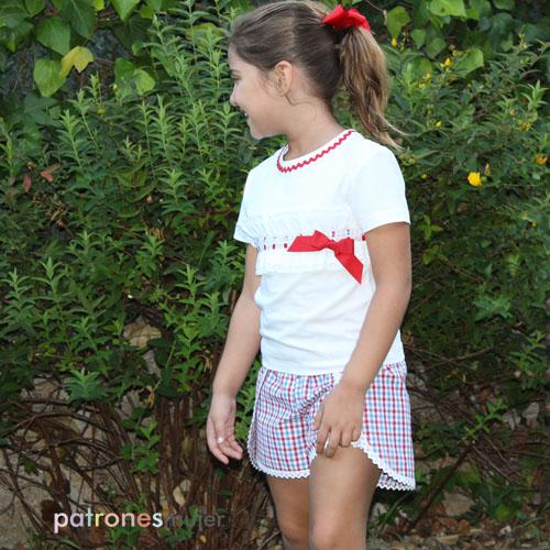 Shorts niña envolvente-patronemujer