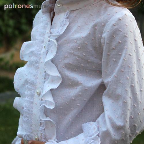 blusa con chorrera-patronesmujer