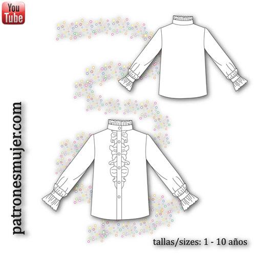 dibujo de blusa con chorrera-blog