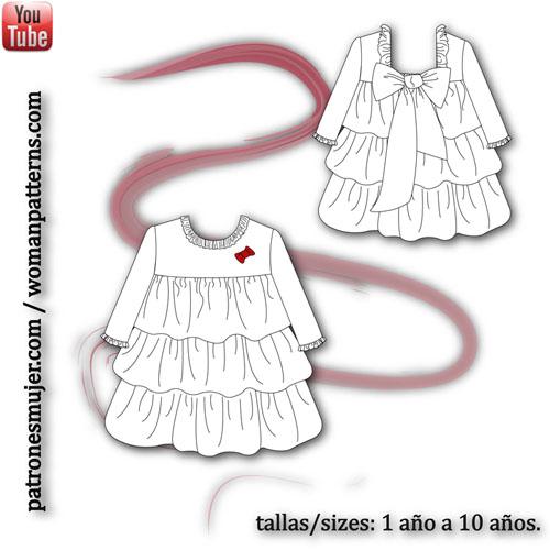 vestido-volantes-manga-francesa-patronesinfantiles