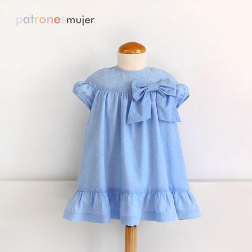 Vestido de plumeti azul-patronesmujer-blog