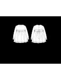 vestido niña de manga larga.