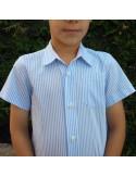 Camisa niño con cuello mao.