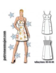 V-neckline strap dress