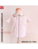Camisa niño con cuello bebé.