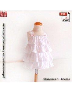 Vestido de plumeti blanco