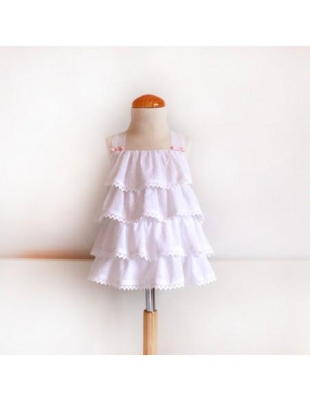 Vestido niña con manga.