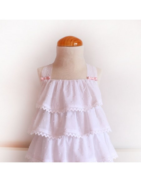 Baby dress with sleeves.