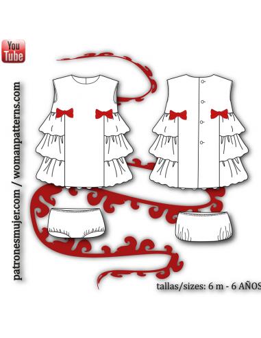 Girl dress with ruffles.