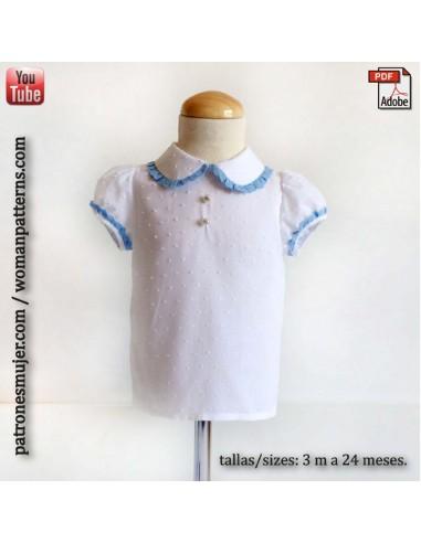 Blusa bebé con manga farol.