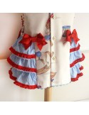Girl dress with ruffles.