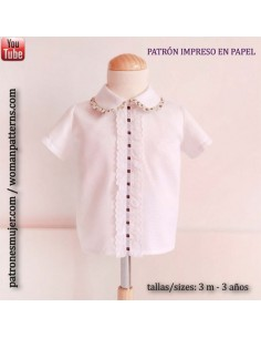 Baby boy collared shirt.