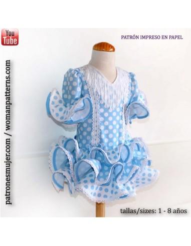 c939d1ba59 Patrón vestido niña de flamenca estilo Marisol.