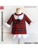 Vestido niña escocés.