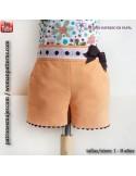 Shorts niña con bolsillos.