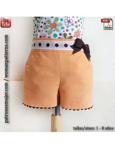 Girls shorts with pockets.