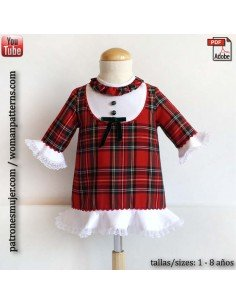 Girl dress scottish.