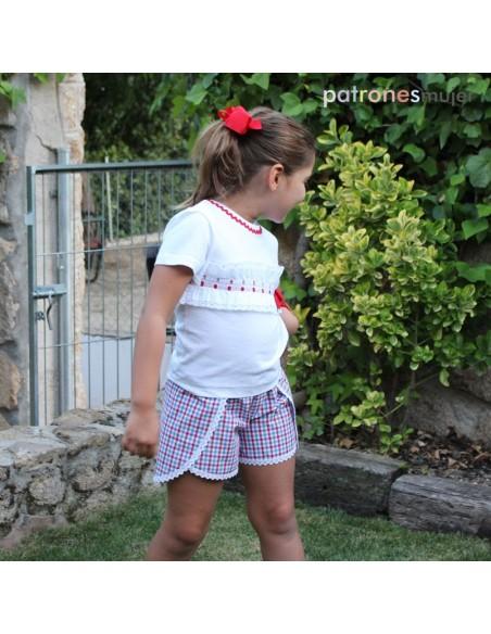 Shorts de niña envolvente.