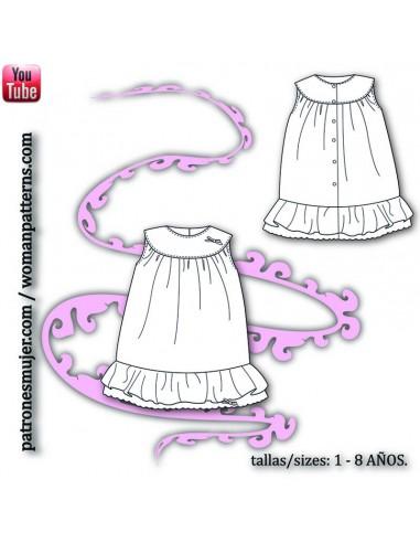 Girl dress with yoke.