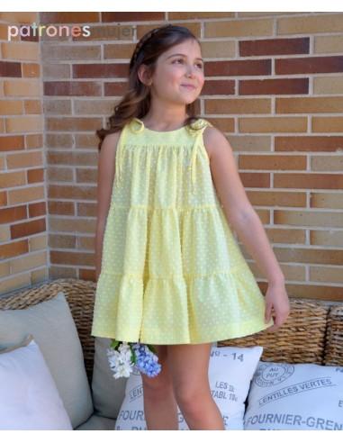 Vestido de plumeti amarillo.