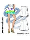 Falda de tablas.