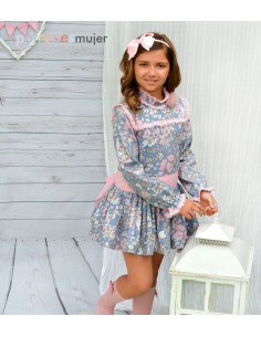 Dress with yoke.