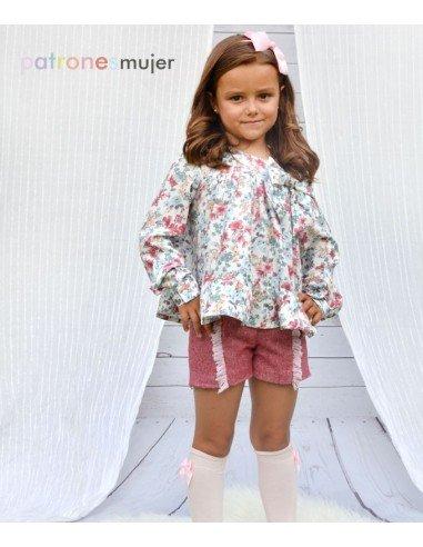 Conjunto de niña con shorts.