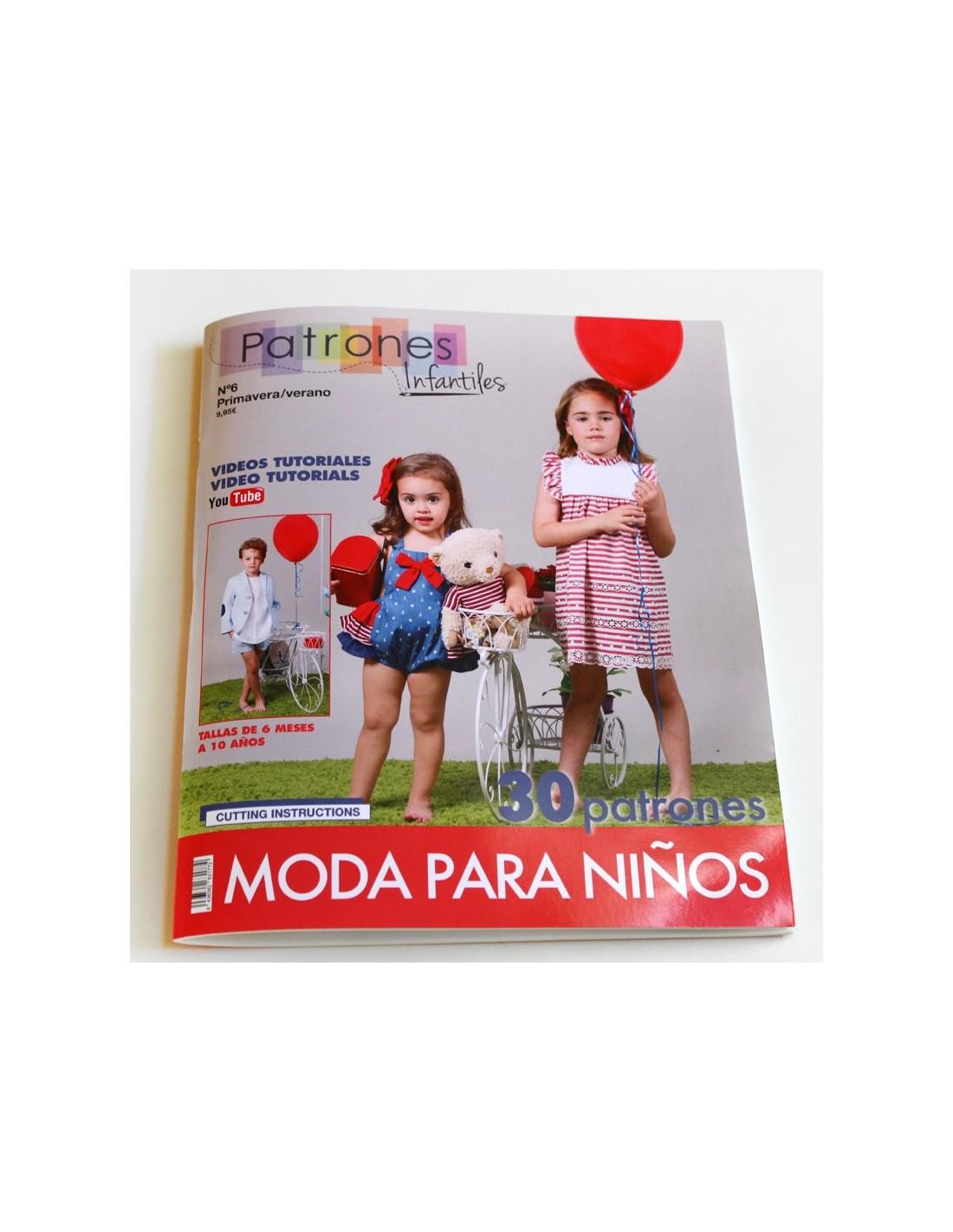revista patrones de costura infantil nº 4 moda primavera verano