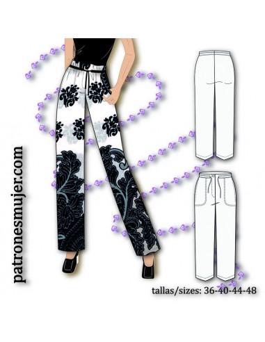Wide leg long trousers