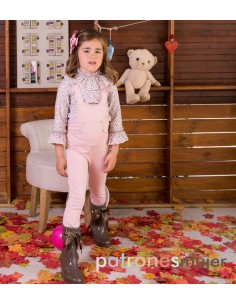 Dungaree with blouse