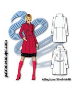 Wool-blend coat.