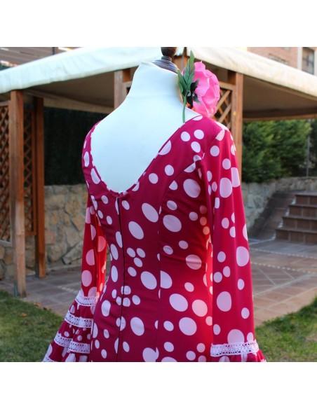 Patrón de vestido flamenco canastero de mujer.