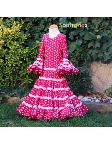 Patrón vestido flamenca de niña...