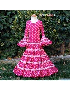 Patrón de vestido flamenca de niña canastero