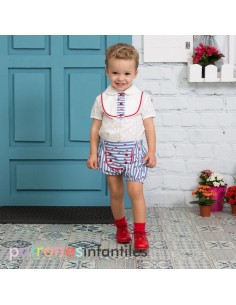 Navy style bloomers outfit