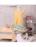 Blouse and ruffled diaper cover