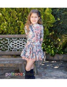 Chimney style collar dress
