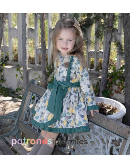 Pear pattern dress