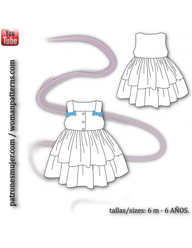 Girl dress with loop.