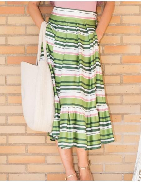 Falda de rayas