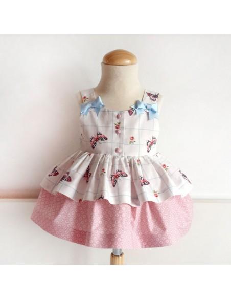 Vestido niña con lazo.
