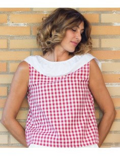 blusa con lazo en la espalda